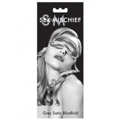 Sex & Mischief Satin Blindfold in Grey
