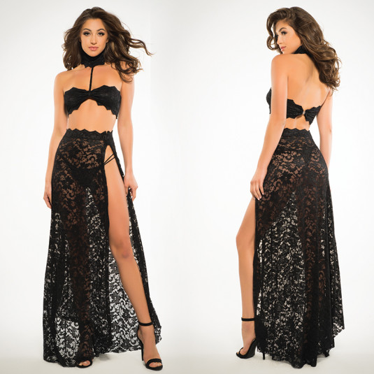 Freya Lace Bandeau and Skirt