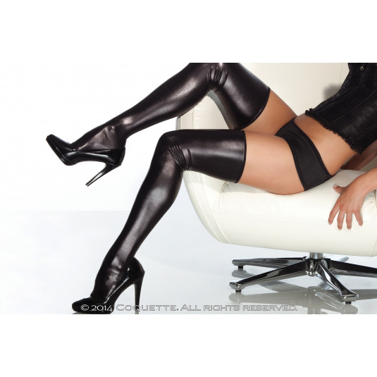 Darque Wet Look Thigh Highs