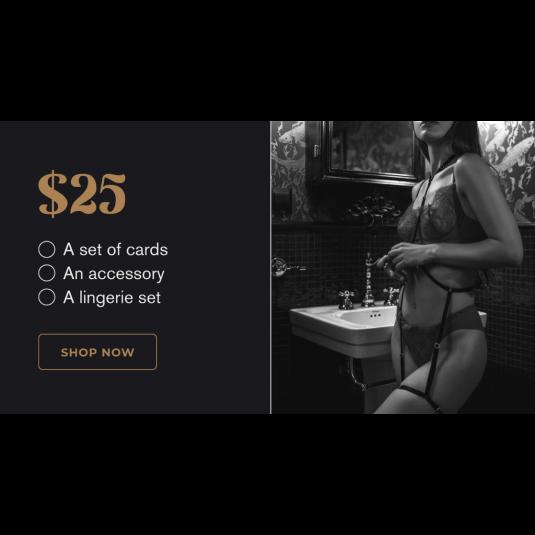 Mystery Bundle- Card + Accessory + Lingerie