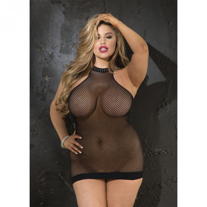 Fishnet Turtleneck Chemise